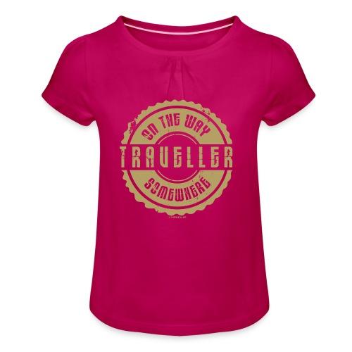 FP 13TR-03 ON THE WAY SOMEWHERE-TRAVELLER PRODUCTS - Tyttöjen t-paita, jossa rypytyksiä