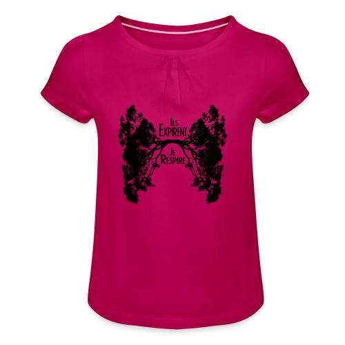 Oxygène - T-shirt à fronces au col Fille