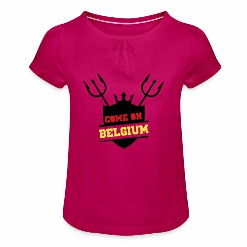 Come On Belgium - T-shirt à fronces au col Fille