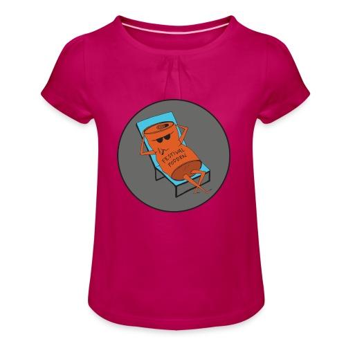 Festivalpodden - Loggan - T-shirt med rynkning flicka