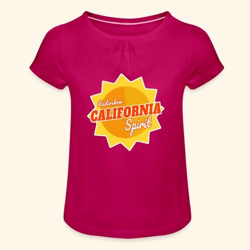 California Spirit Radioshow - T-shirt à fronces au col Fille