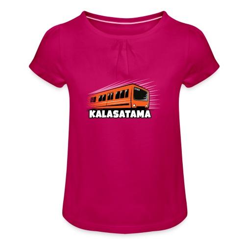 11- METRO KALASATAMA - HELSINKI - LAHJATUOTTEET - Tyttöjen t-paita, jossa rypytyksiä