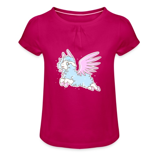 Kawaii Mouton des rêves - T-shirt à fronces au col Fille