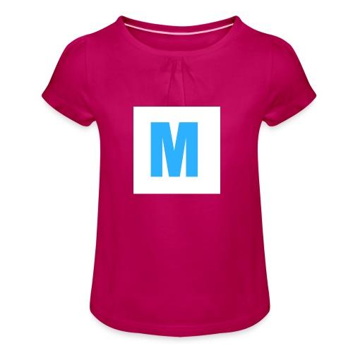 M de Marcgot Logo Oficial - Camiseta para niña con drapeado