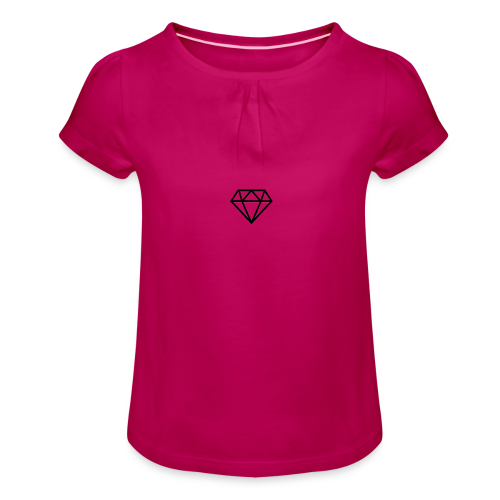 black diamond logo - Girl's T-Shirt with Ruffles