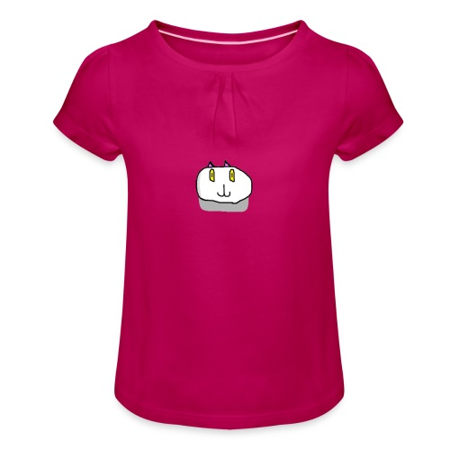 The Fierce Cat Logo - Girl's T-Shirt with Ruffles