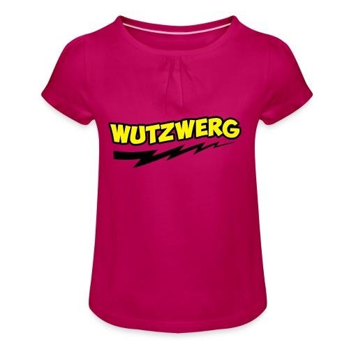 Wutzwerg - Mädchen-T-Shirt mit Raffungen