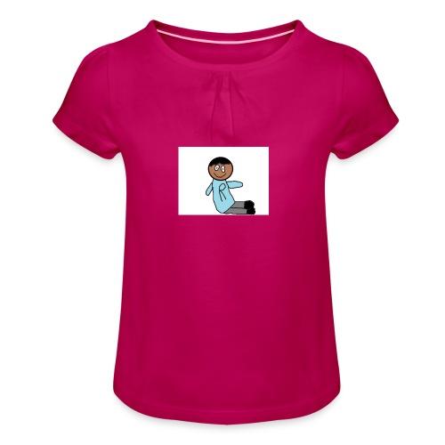 das team r - Mädchen-T-Shirt mit Raffungen
