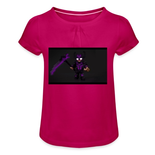 Herobrine 2 v - Mädchen-T-Shirt mit Raffungen