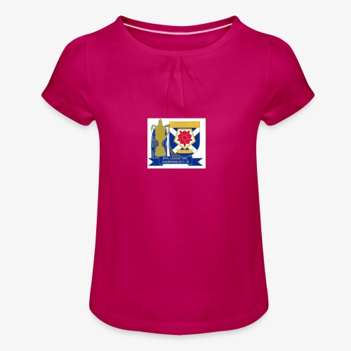 MFCSC Champions Artwork - Girl's T-Shirt with Ruffles