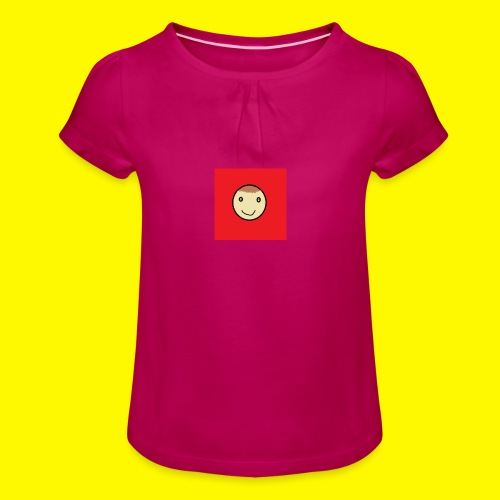 awesome leo shirt - Girl's T-Shirt with Ruffles