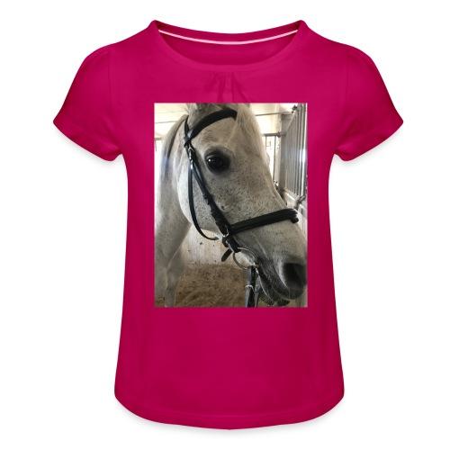 9AF36D46 95C1 4E6C 8DAC 5943A5A0879D - Jente-T-skjorte med frynser