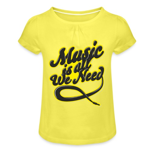 Music Is All We Need - Girl's T-Shirt with Ruffles