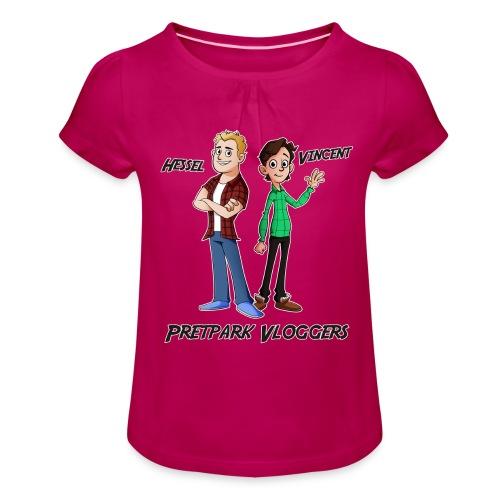 Hessel_Vincent - Meisjes-T-shirt met plooien