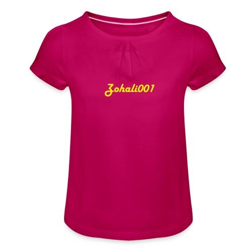 Zohali001 - T-shirt med rynkning flicka