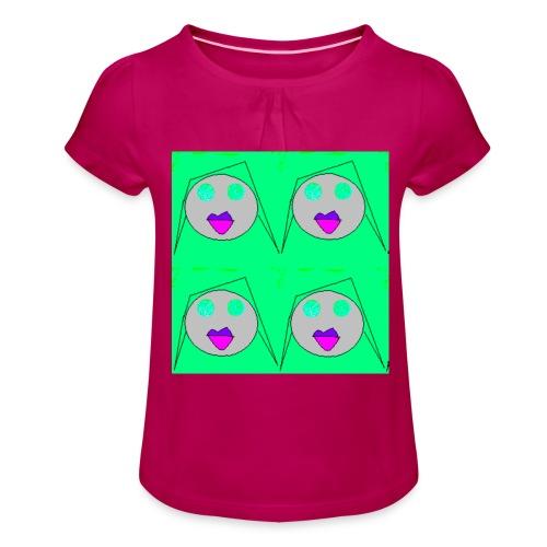 sarra cocou - T-shirt à fronces au col Fille