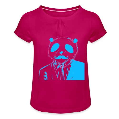BluePanda Logo - Girl's T-Shirt with Ruffles