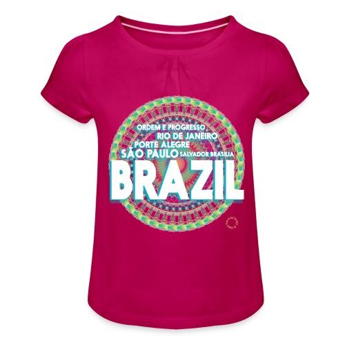 Lemon Brazil Mandala - T-shirt à fronces au col Fille