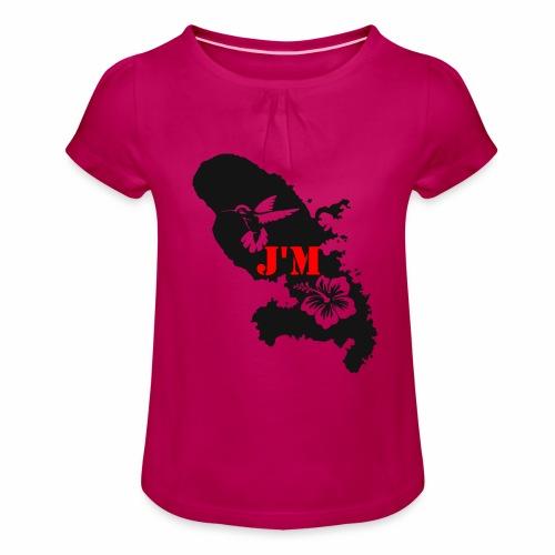 J'M La Martinique - T-shirt à fronces au col Fille