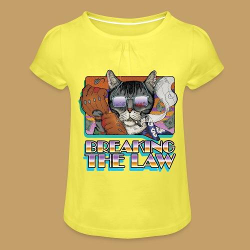 Crime Cat in Shades - Braking the Law - Koszulka dziewczęca z marszczeniami