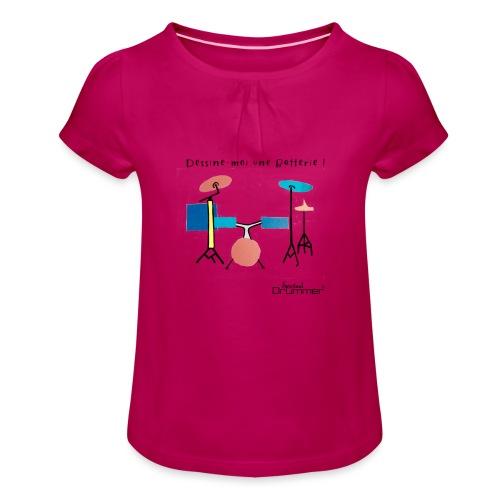 Azia Drum - Girl's T-Shirt with Ruffles