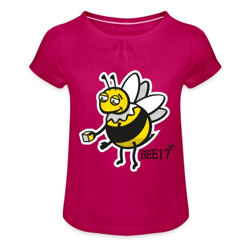 Teeny Tiny East End Bee - Girl's T-Shirt with Ruffles