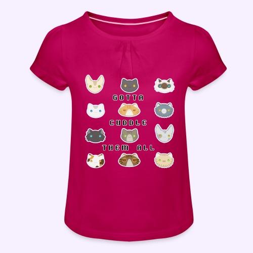 All the Cats - Maglietta da ragazza con arricciatura