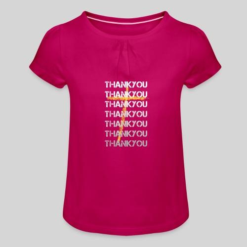 DANKE Jesus, das Geschenk für Christen THANKYOU - Mädchen-T-Shirt mit Raffungen