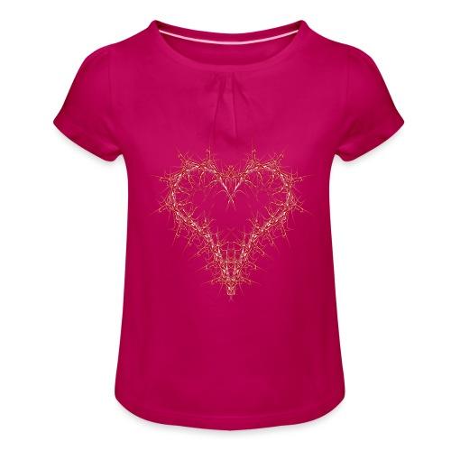 hertz 1 - Mädchen-T-Shirt mit Raffungen