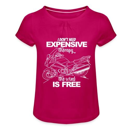 0881 FJR wind is free - Meisjes-T-shirt met plooien
