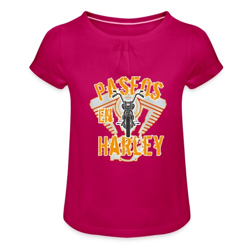 Paseos en H a r l e y - Camiseta para niña con drapeado