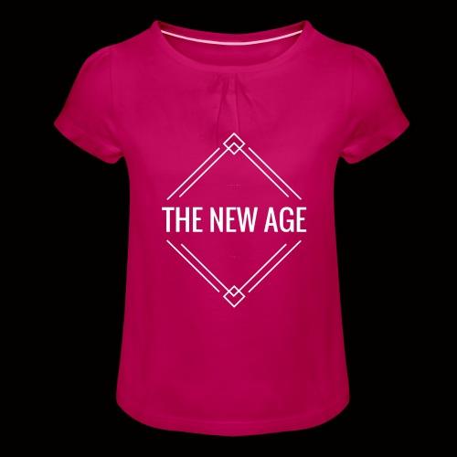 THE NEW AGE - Mädchen-T-Shirt mit Raffungen