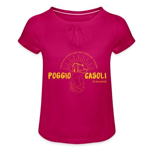 Poggio Casoli_Istituzionale_Giallo - Maglietta da ragazza con arricciatura