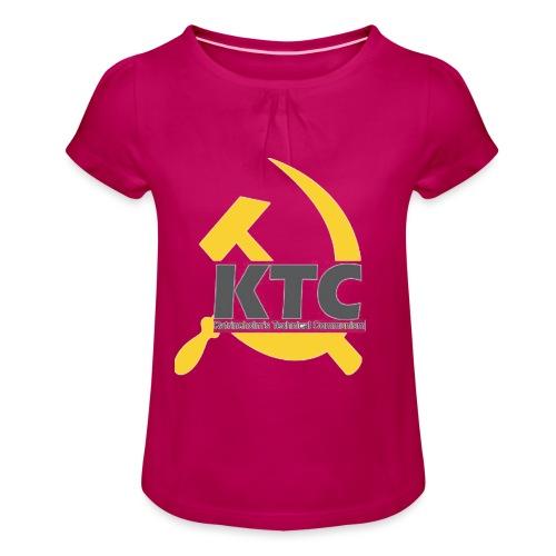 kto communism shirt - T-shirt med rynkning flicka