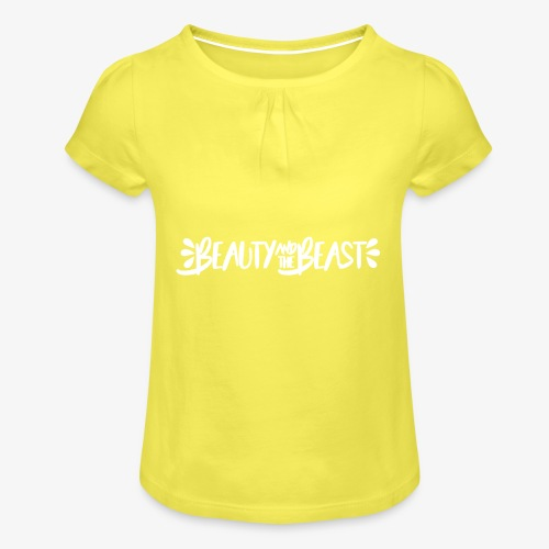 Beauty and the Beast - Girl's T-Shirt with Ruffles