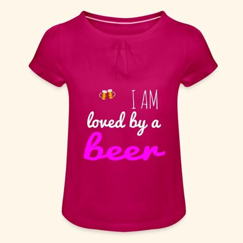 Birra Beer - Maglietta da ragazza con arricciatura