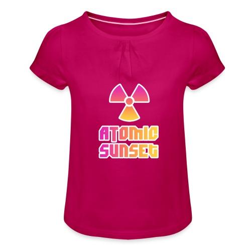ATOMIC SUNSET - T-shirt à fronces au col Fille