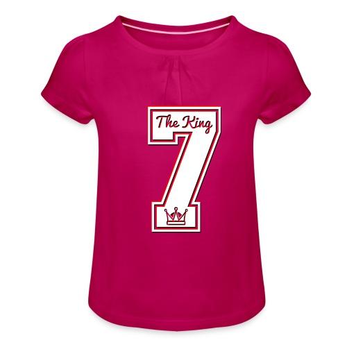 Collection THE KING 7 - T-shirt à fronces au col Fille