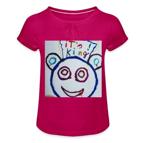 de panda beer - Meisjes-T-shirt met plooien