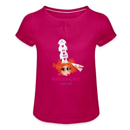 DOUSIG BIGOUDENE - T-shirt à fronces au col Fille