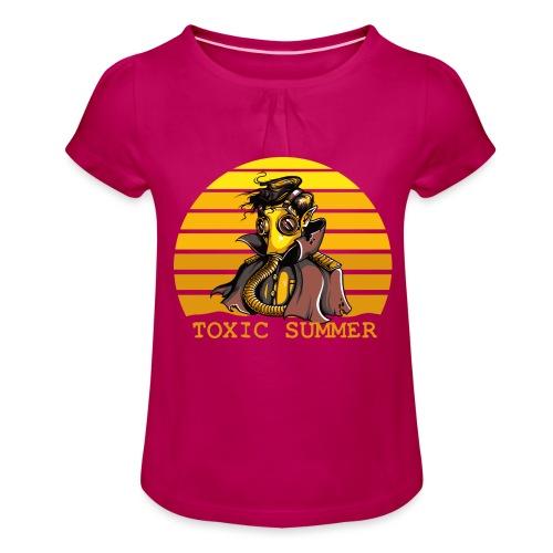 Toxic Summer - Camiseta para niña con drapeado