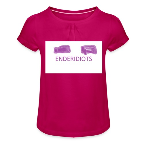 enderproductions enderidiots design - Girl's T-Shirt with Ruffles
