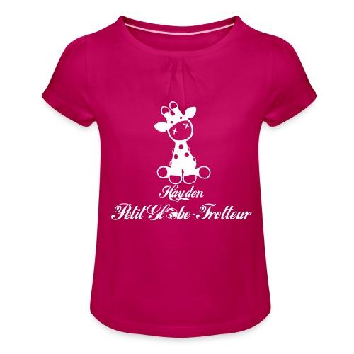 Hayden petit globe trotteur - T-shirt à fronces au col Fille
