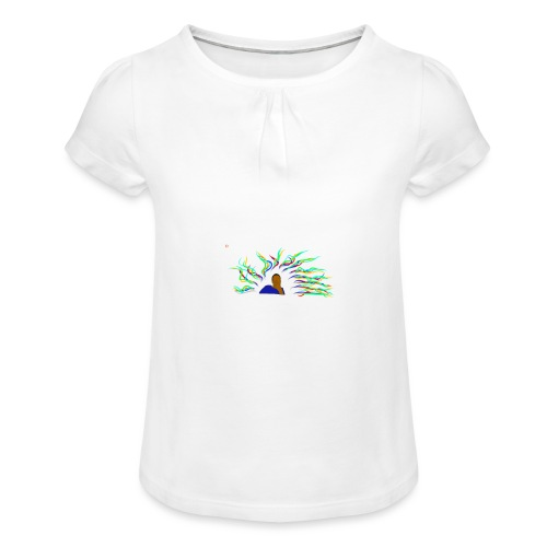 Project Drawing 1 197875703 - Girl's T-Shirt with Ruffles