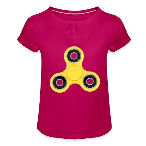 Hand Spinner - T-shirt à fronces au col Fille