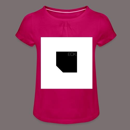 ecke - Mädchen-T-Shirt mit Raffungen