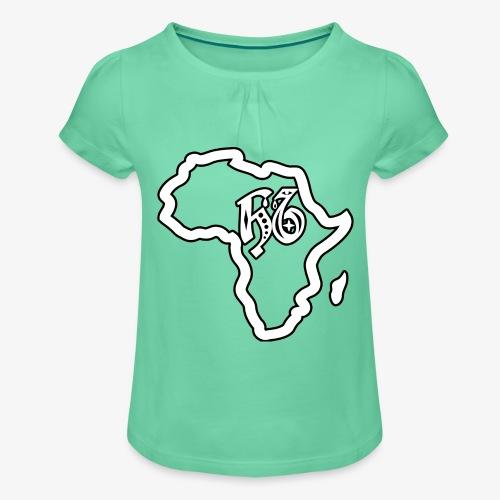 afrika pictogram - Meisjes-T-shirt met plooien