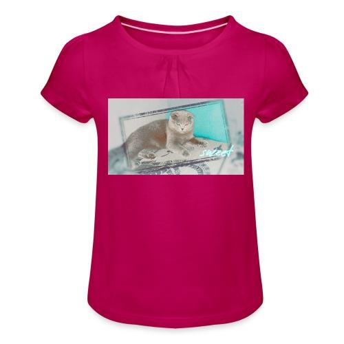 by DaK - Mädchen-T-Shirt mit Raffungen