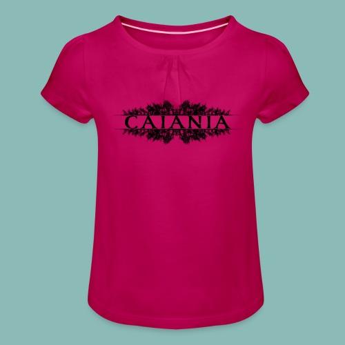 Caiania-logo musta - Tyttöjen t-paita, jossa rypytyksiä