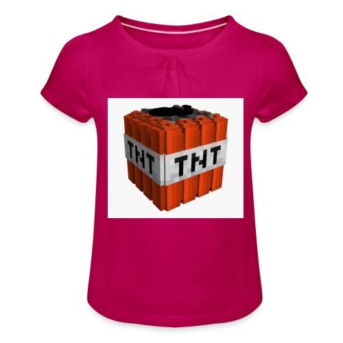 tnt block - Meisjes-T-shirt met plooien